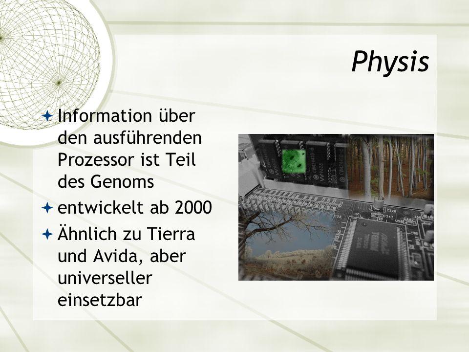 Physis Information über den ausführenden Prozessor ist Teil des Genoms