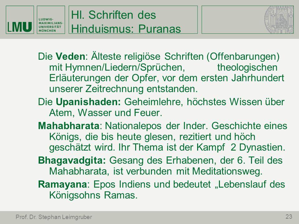 Hl. Schriften des Hinduismus: Puranas