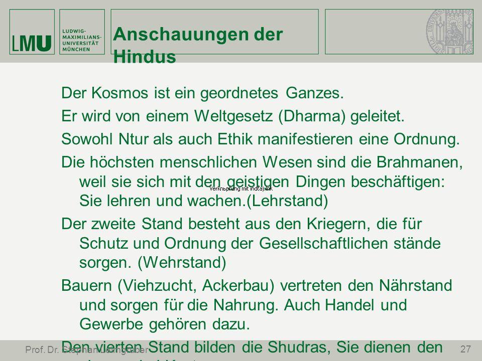 Anschauungen der Hindus