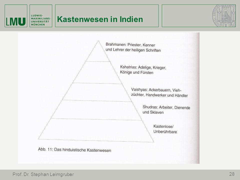 Kastenwesen in Indien Prof. Dr. Stephan Leimgruber