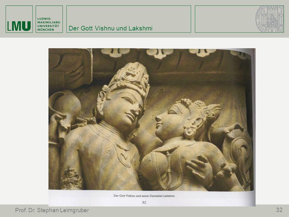 Der Gott Vishnu und Lakshmi