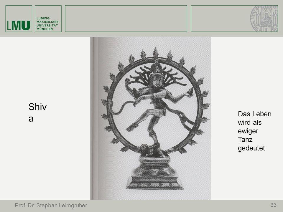 Shiva Das Leben wird als ewiger Tanz gedeutet