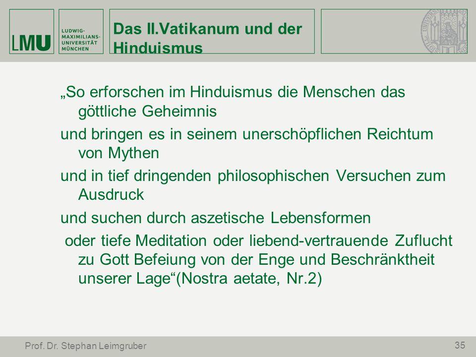 Das II.Vatikanum und der Hinduismus