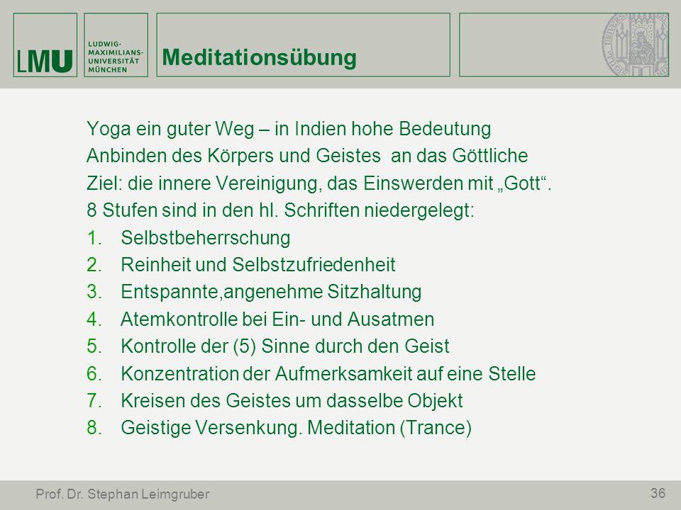Meditationsübung Yoga ein guter Weg – in Indien hohe Bedeutung