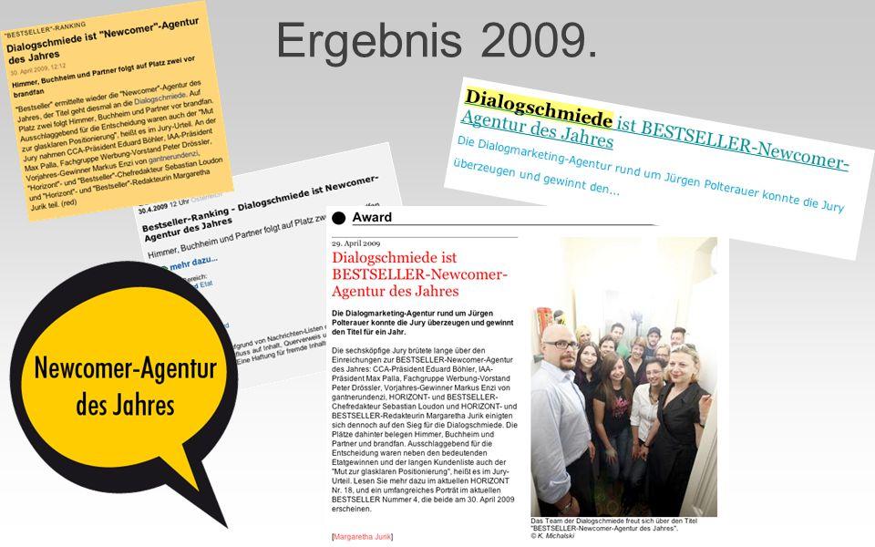 Ergebnis 2009.