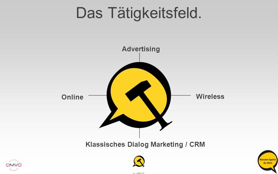 Das Tätigkeitsfeld. Advertising Online Wireless