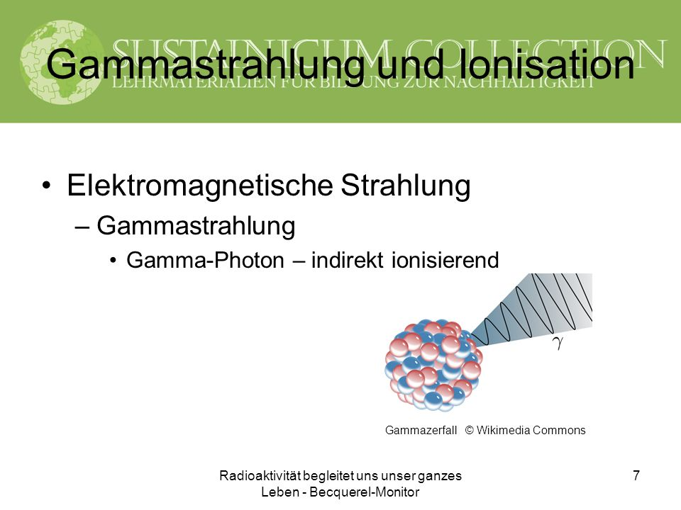 Gammastrahlung und Ionisation