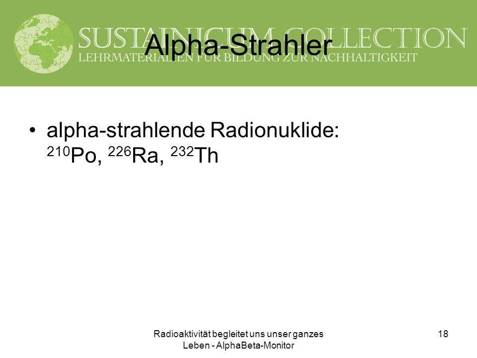 Radioaktivität begleitet uns unser ganzes Leben - AlphaBeta-Monitor