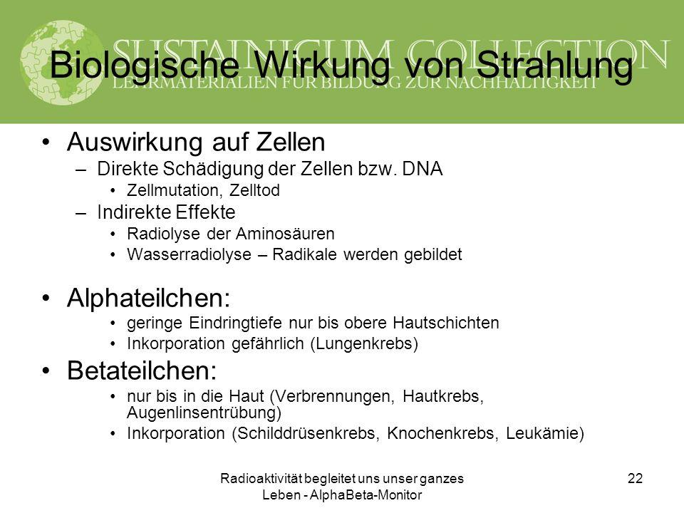 Biologische Wirkung von Strahlung