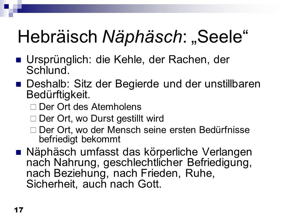 """Hebräisch Näphäsch: """"Seele"""