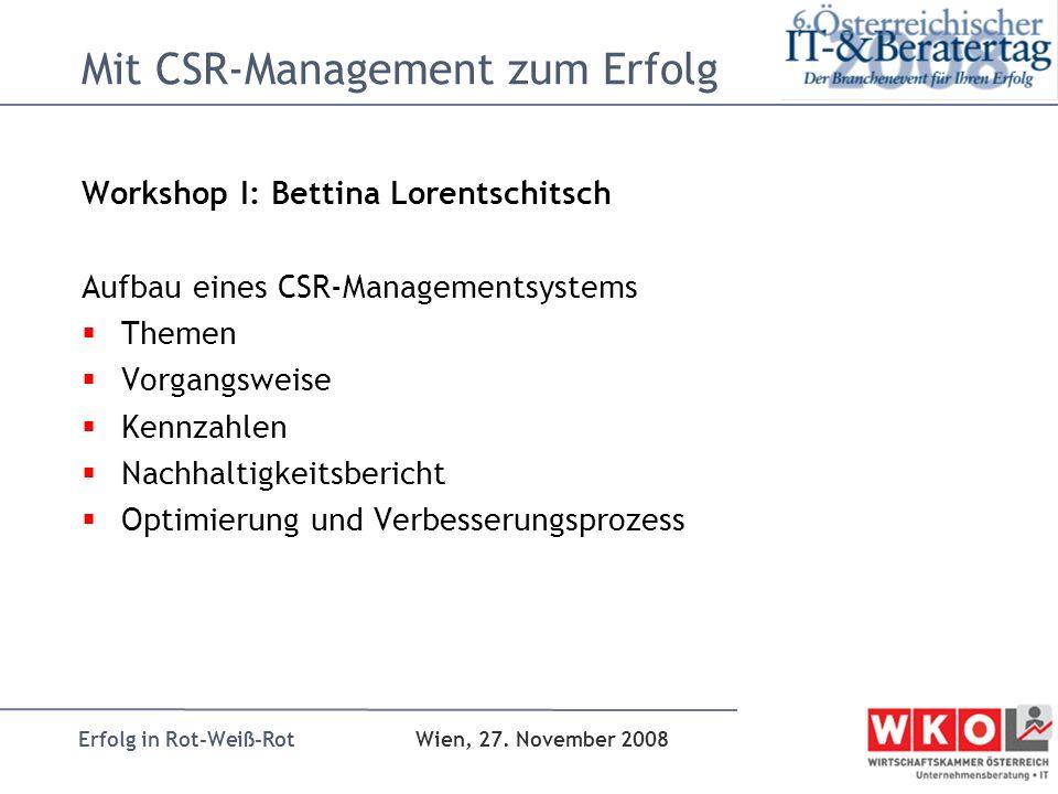 Mit CSR-Management zum Erfolg