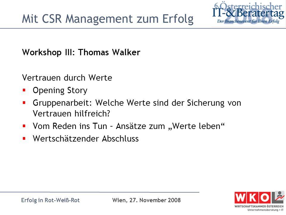 Mit CSR Management zum Erfolg