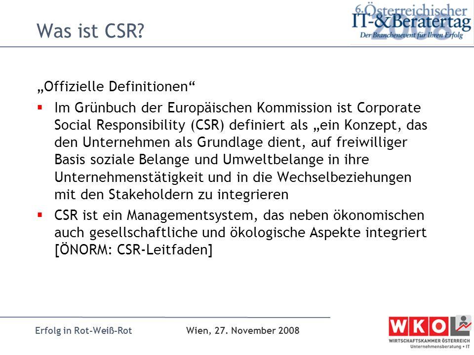 """Was ist CSR """"Offizielle Definitionen"""