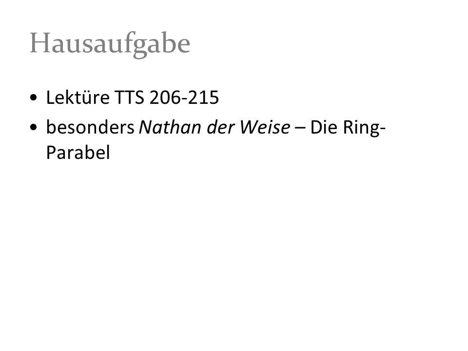 Hausaufgabe Lektüre TTS 206-215