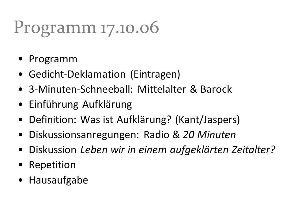Programm 17.10.06 Programm Gedicht-Deklamation (Eintragen)