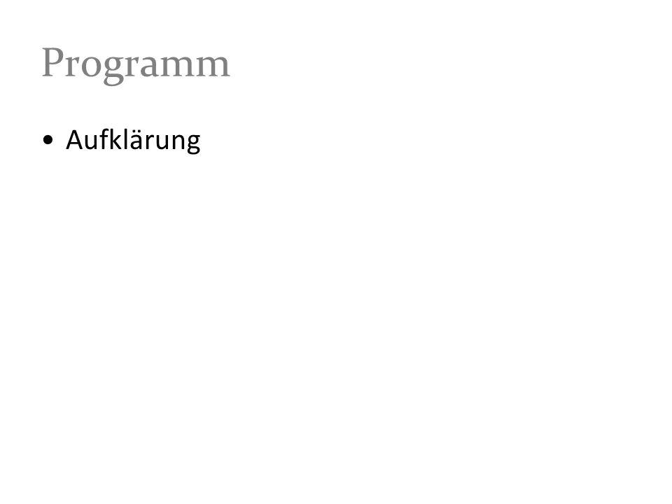 Programm Aufklärung