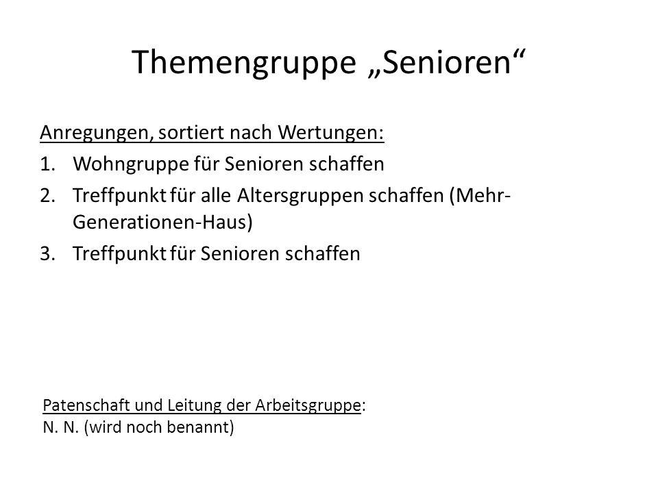 """Themengruppe """"Senioren"""