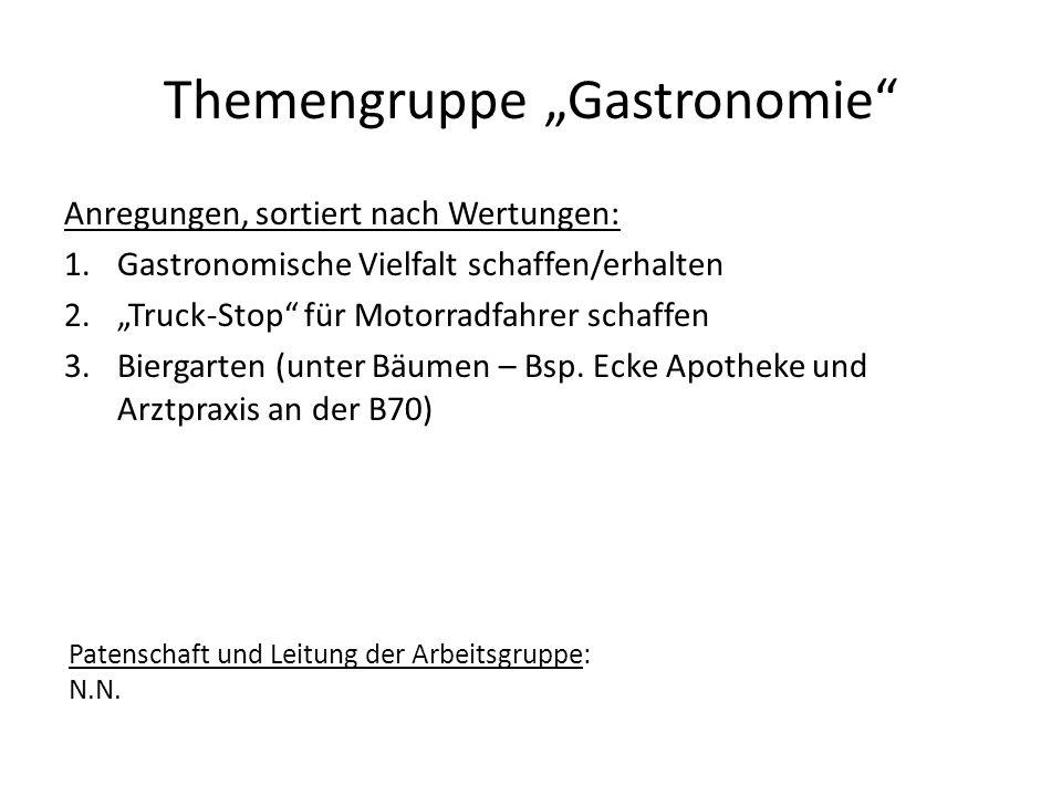 "Themengruppe ""Gastronomie"