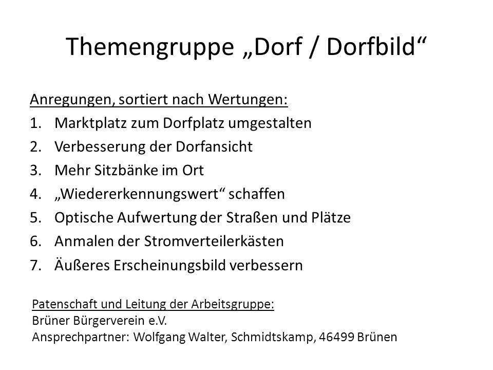 "Themengruppe ""Dorf / Dorfbild"