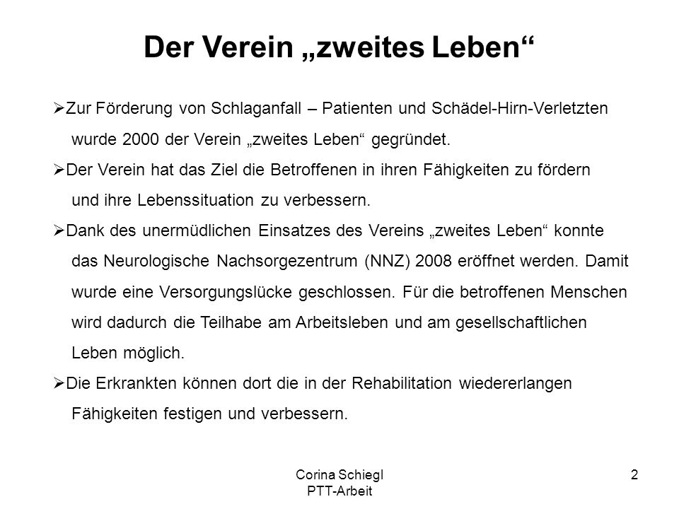"""Der Verein """"zweites Leben"""