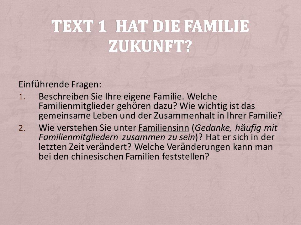 Text 1 Hat die Familie Zukunft