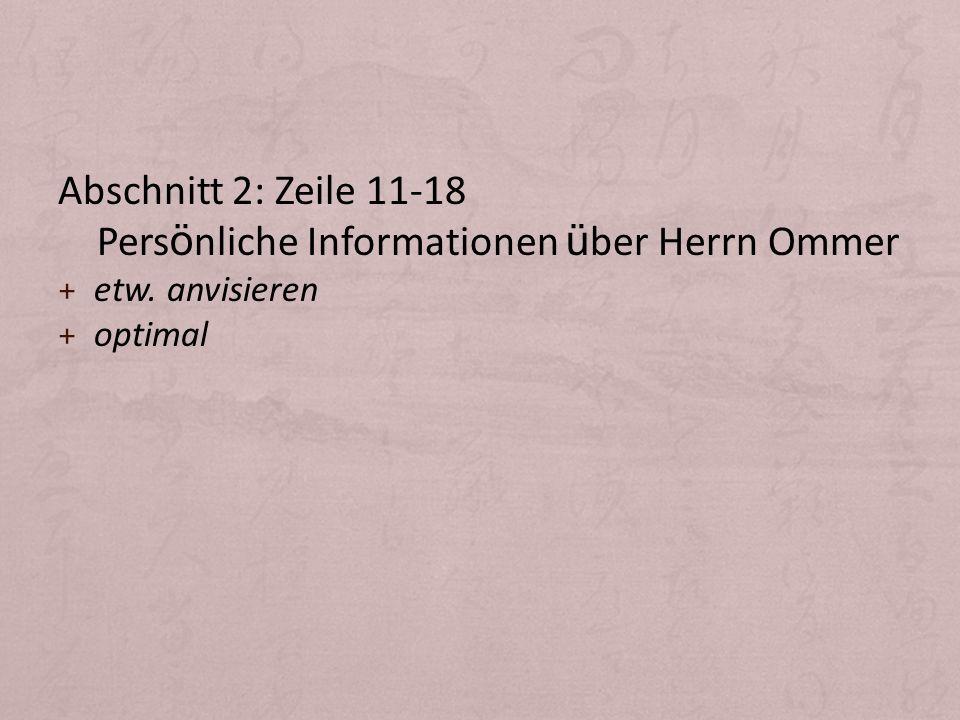 Persönliche Informationen über Herrn Ommer