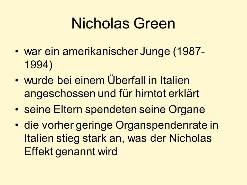 Nicholas Green war ein amerikanischer Junge (1987-1994)