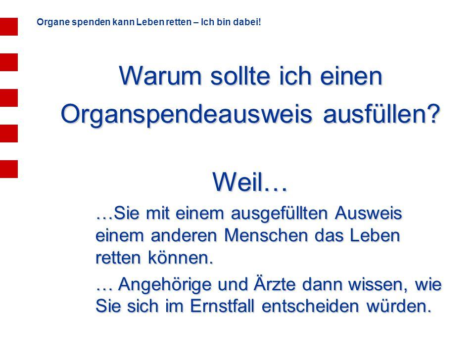 Organspendeausweis ausfüllen