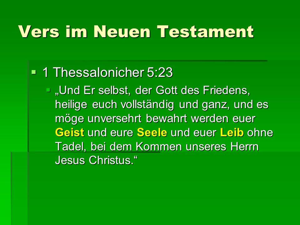 Vers im Neuen Testament