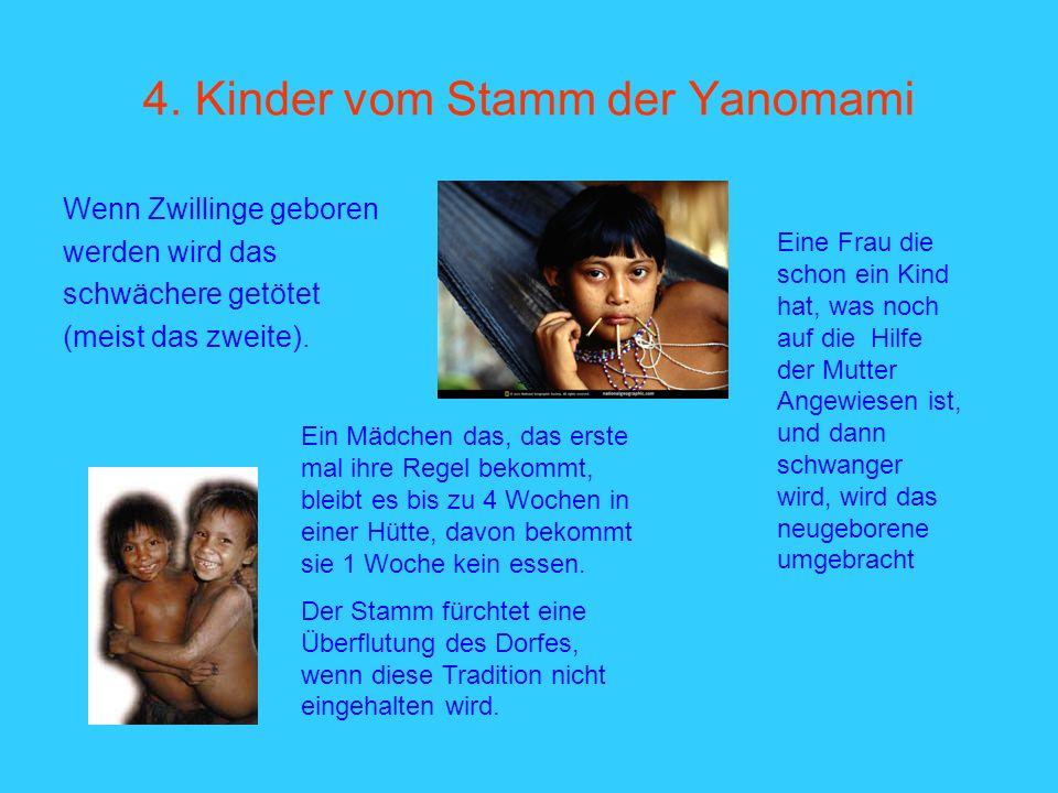 4. Kinder vom Stamm der Yanomami