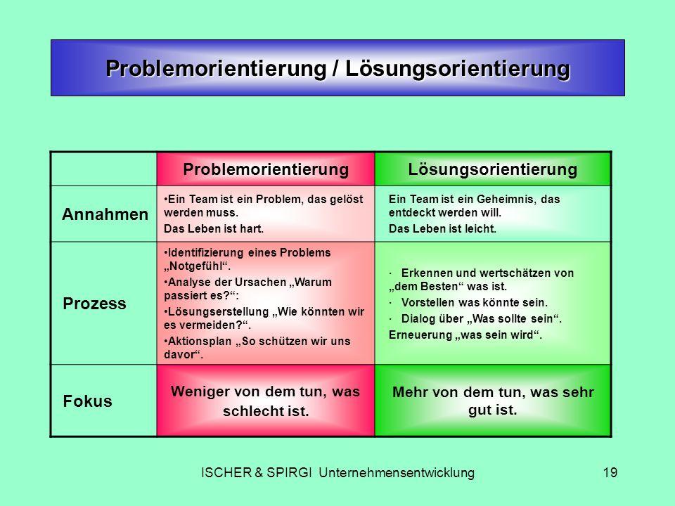 Problemorientierung / Lösungsorientierung