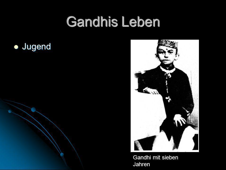 Gandhis Leben Jugend Gandhi mit sieben Jahren
