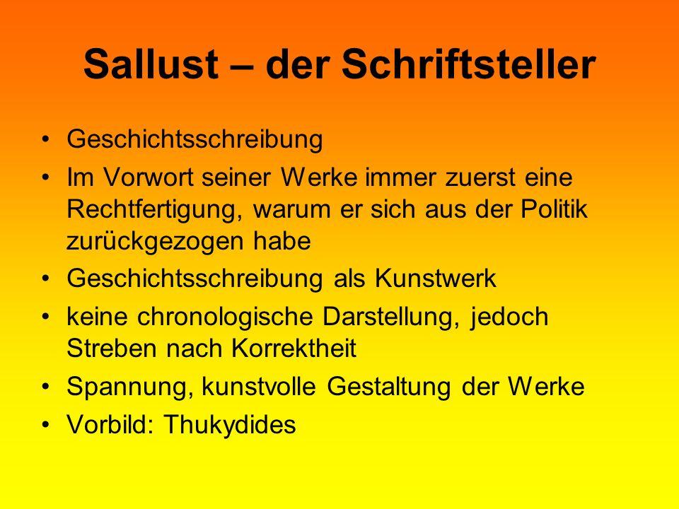 Sallust – der Schriftsteller