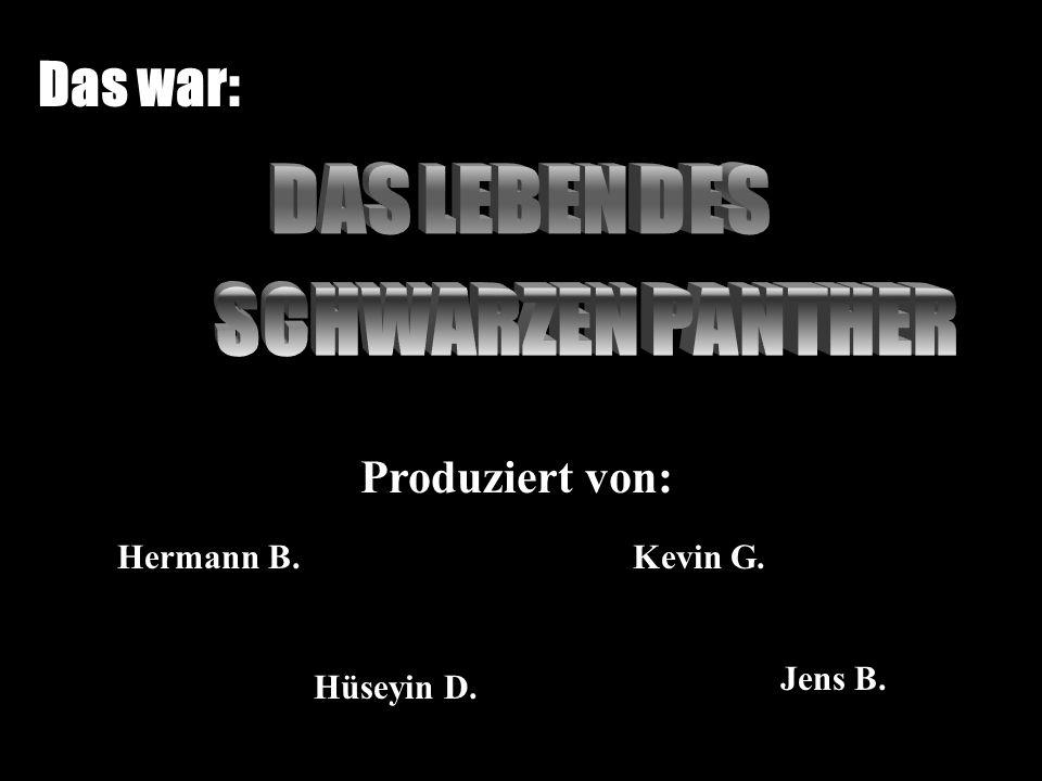 Das war: DAS LEBEN DES SCHWARZEN PANTHER Produziert von: Hermann B.