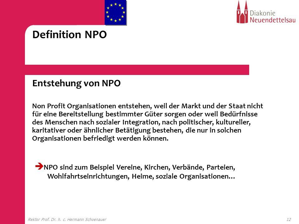 Definition NPO