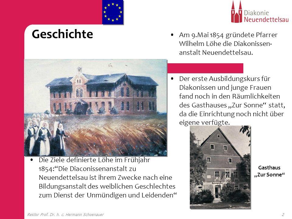 Geschichte Am 9.Mai 1854 gründete Pfarrer Wilhelm Löhe die Diakonissen-anstalt Neuendettelsau.
