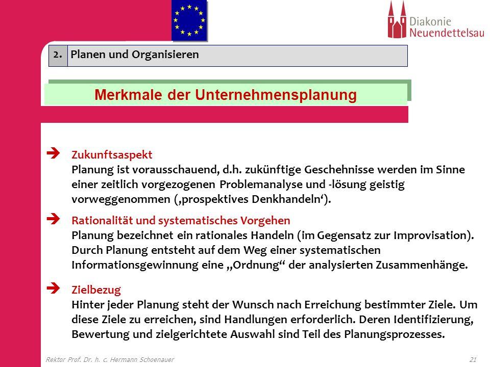 Merkmale der Unternehmensplanung