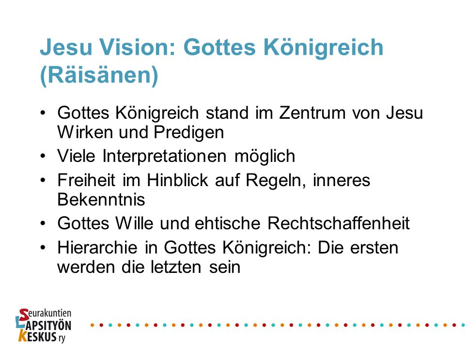 Jesu Vision: Gottes Königreich (Räisänen)