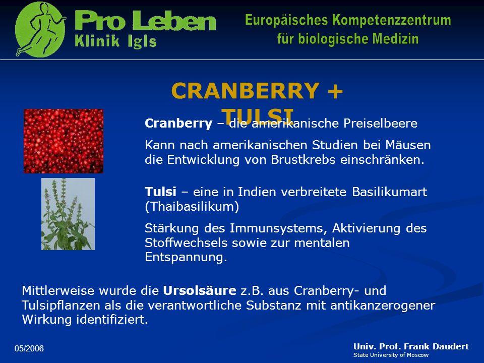 CRANBERRY + TULSI Cranberry – die amerikanische Preiselbeere
