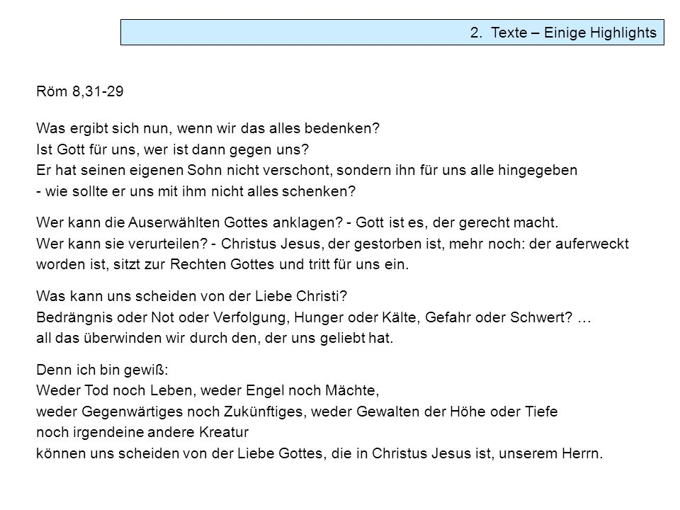 2. Texte – Einige Highlights