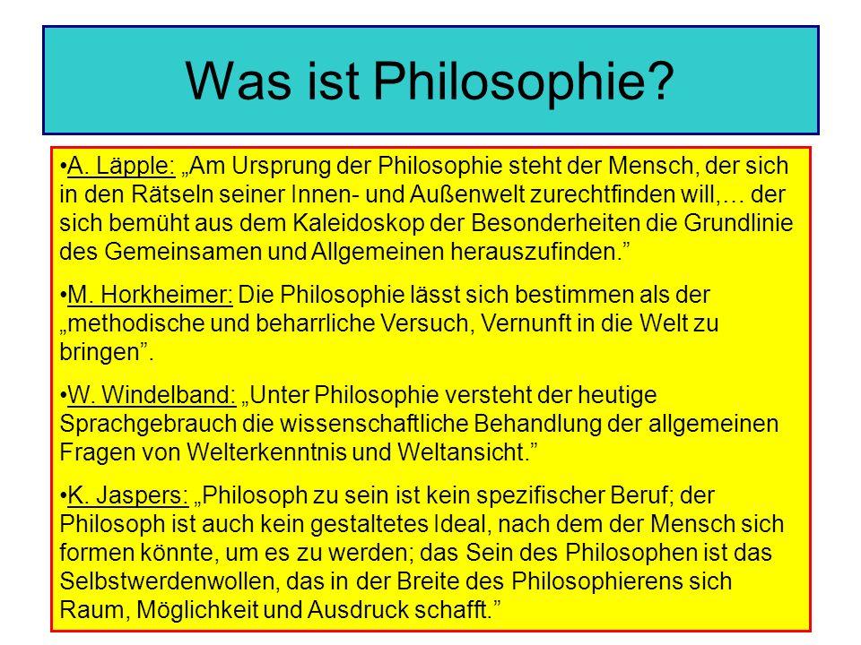 Was ist Philosophie