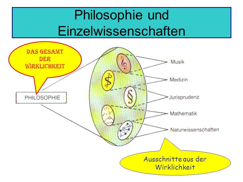 Philosophie und Einzelwissenschaften
