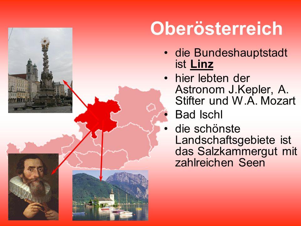 Oberösterreich die Bundeshauptstadt ist Linz