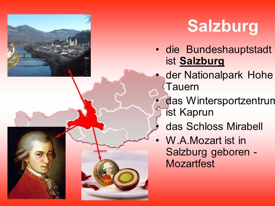 Salzburg die Bundeshauptstadt ist Salzburg