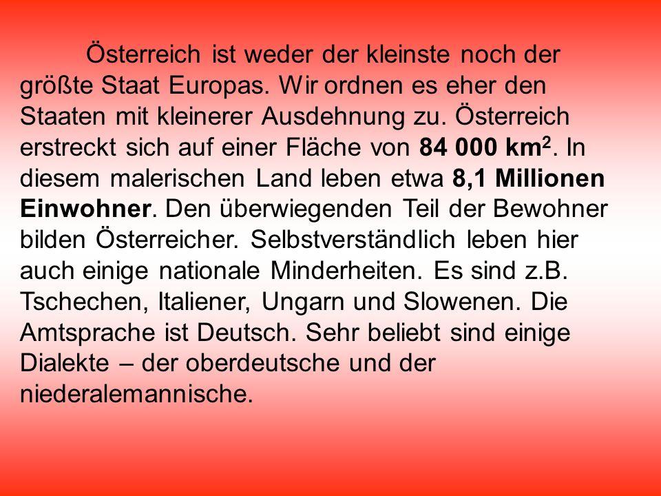 Österreich ist weder der kleinste noch der größte Staat Europas