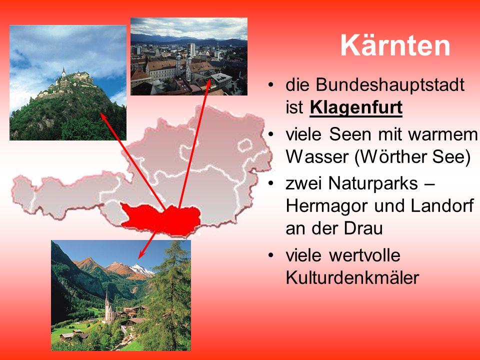 Kärnten die Bundeshauptstadt ist Klagenfurt