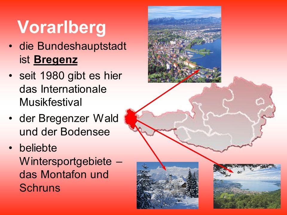 Vorarlberg die Bundeshauptstadt ist Bregenz
