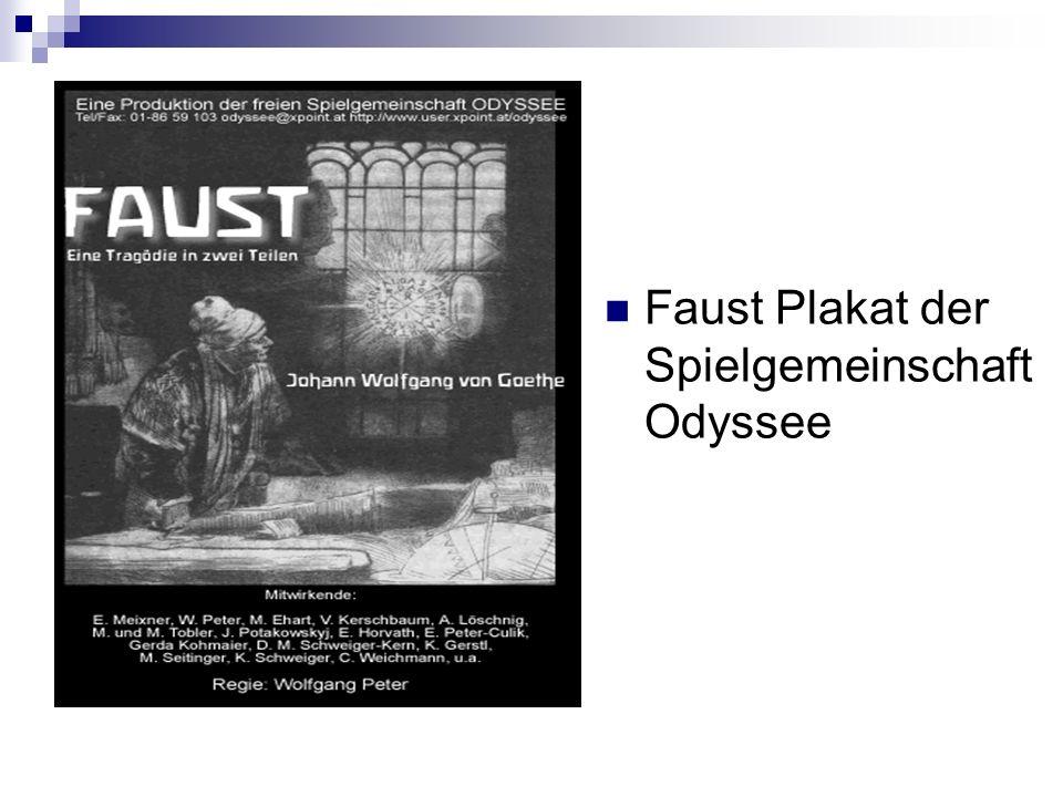 Faust Plakat der Spielgemeinschaft Odyssee