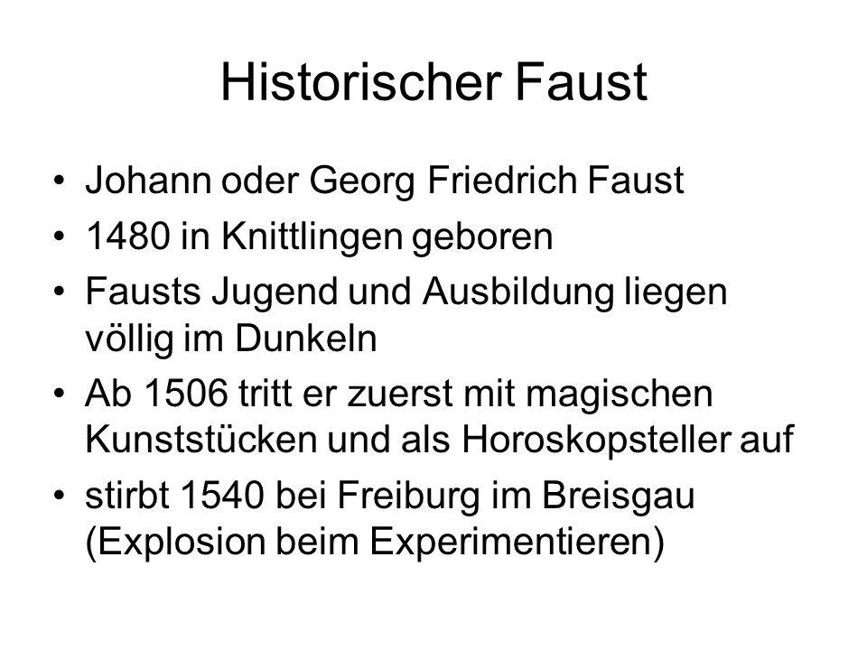 Historischer Faust Johann oder Georg Friedrich Faust