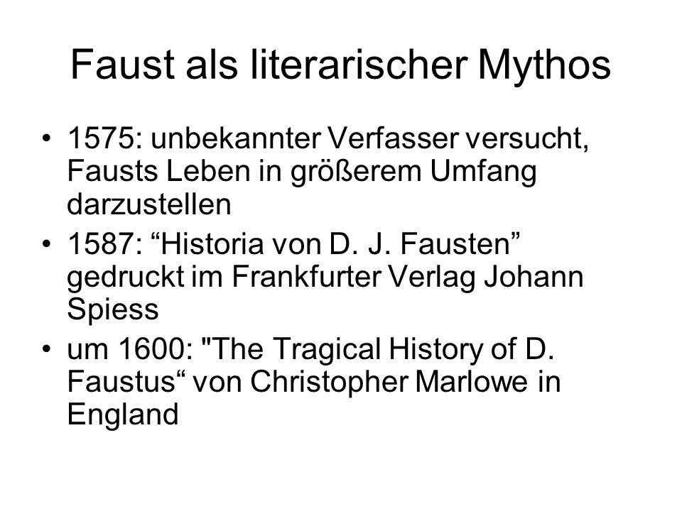 Faust als literarischer Mythos